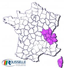 carte repartition Dominique VARLET Rousselle Industrie