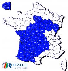 carte repartition Herve PAU Rousselle Industrie
